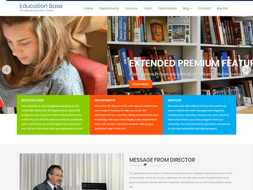 Education Base - Best Free Education WordPress Themes and Templates