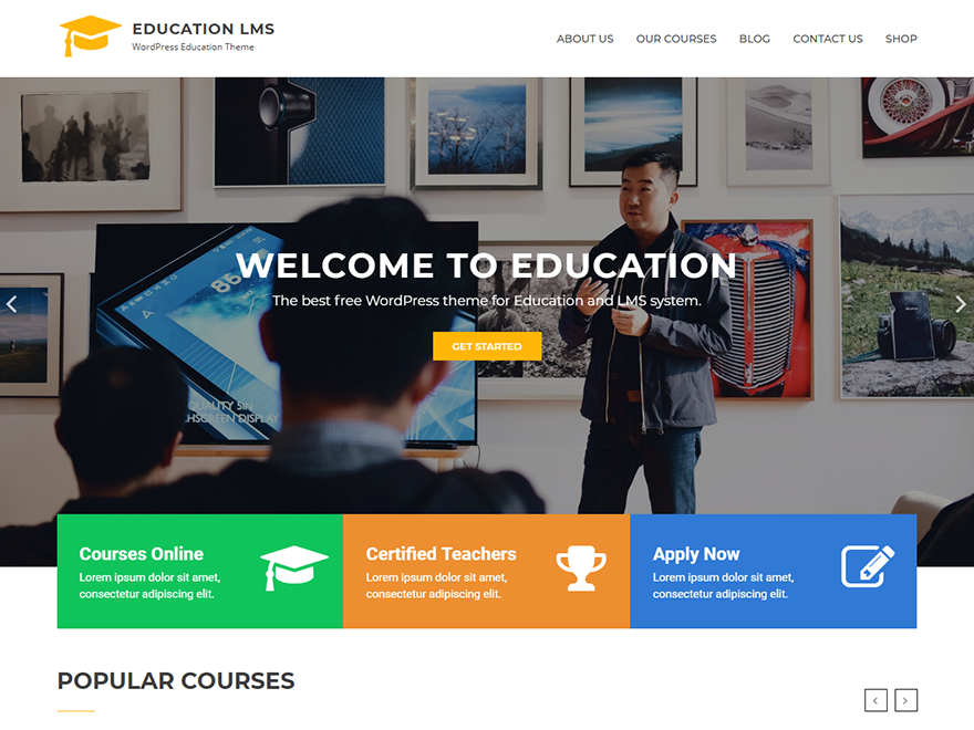 Education LMS - Best Free Education WordPress Themes and Templates