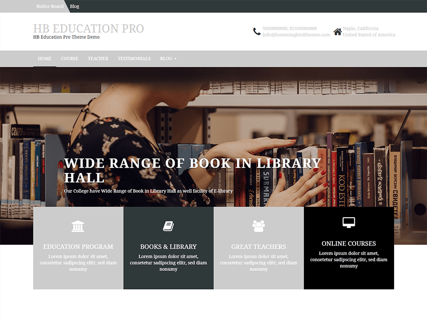 HB Education - Best Free Education WordPress Themes and Templates