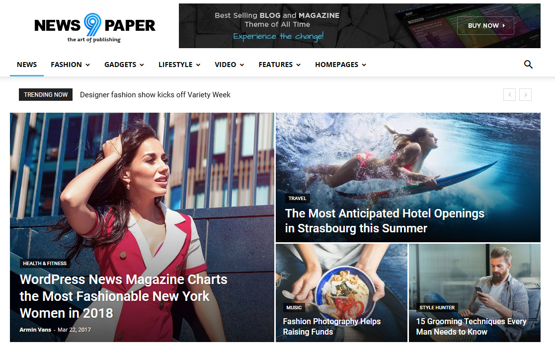 NewsPaper - Best Adsense Optimized WordPress Themes
