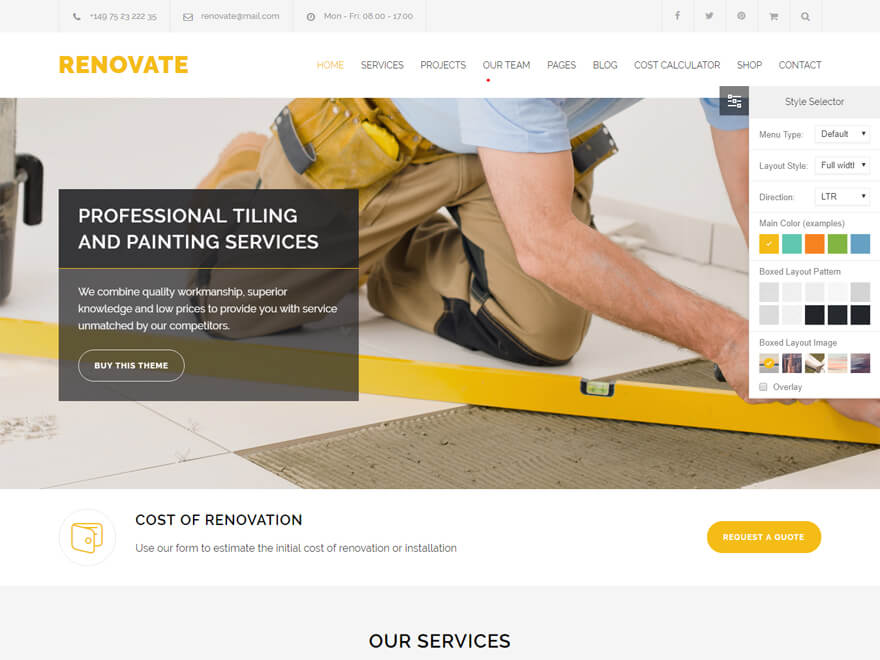 Renovate - Best Construction Business Company WordPress Themes and Templates