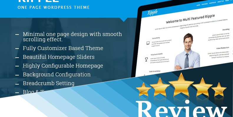 Ripple - One Page Free Multipurpose WordPress Theme
