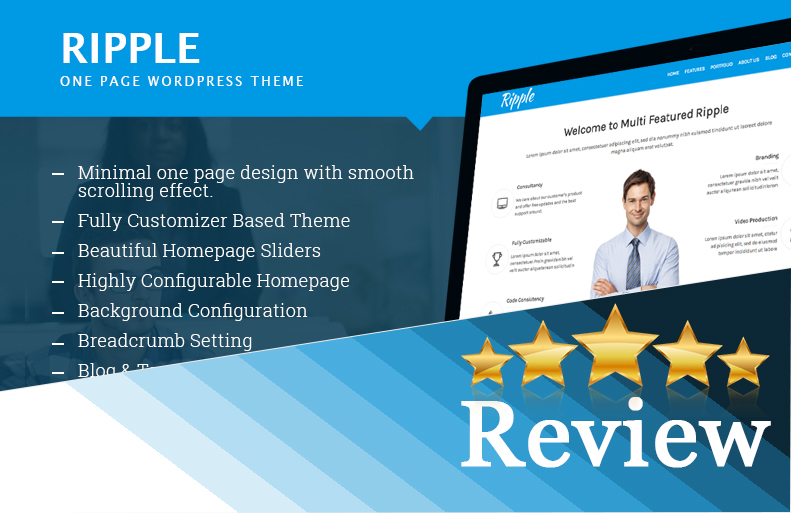 Ripple - A One Page Free Multipurpose WordPress Theme