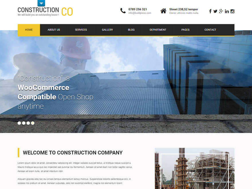 SKT Construction Pro - Best Construction Business Company WordPress Themes and Templates