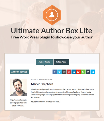 Free Post/Article Author Section Plugin for WordPress – Ultimate Author Box Lite