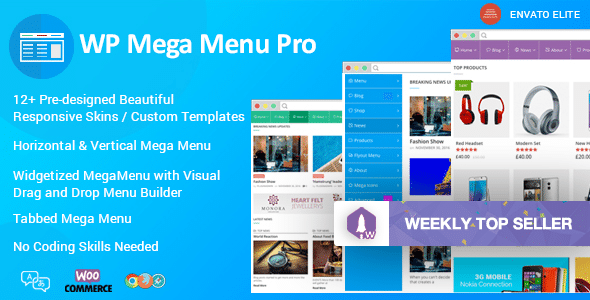Responsive Mega Menu Plugin for WordPress: WP Mega Menu Pro