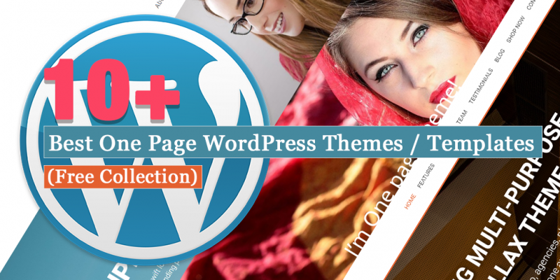 10+ Best One Page WordPress Themes and Templates (Free Collection)