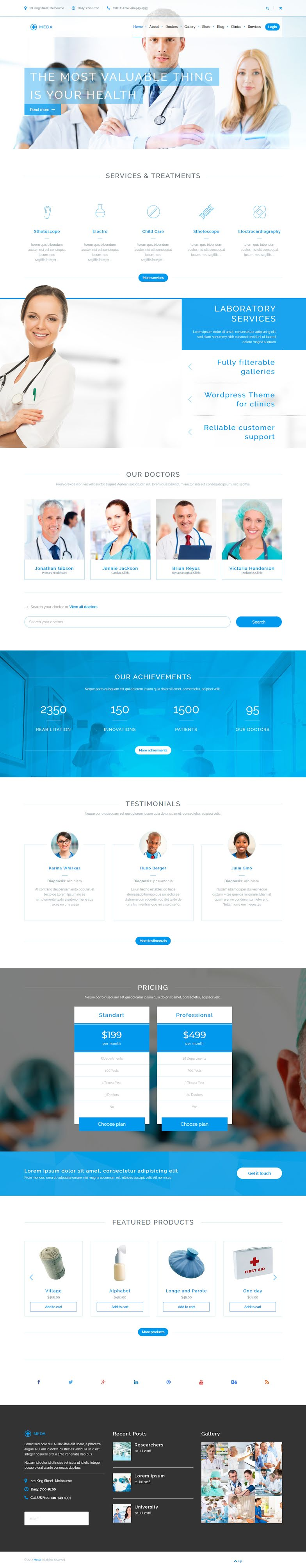 Meda - Best Premium Hospital WordPress Theme
