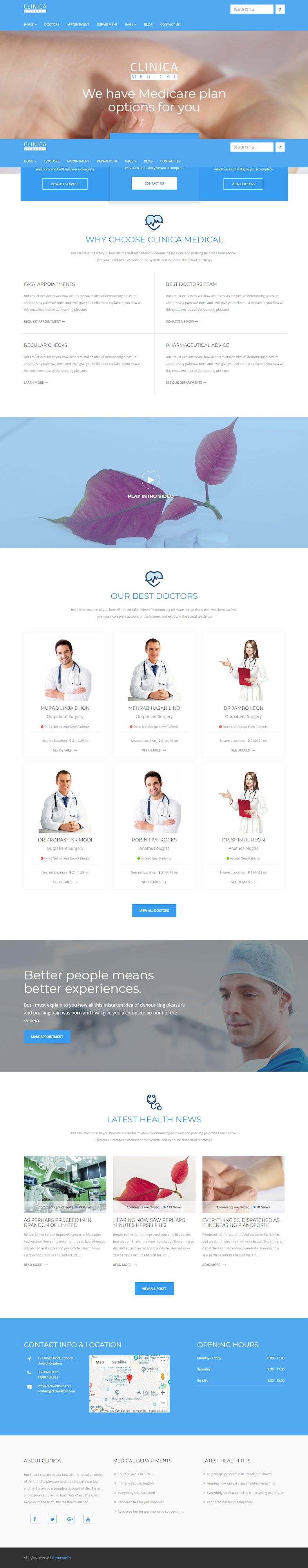 Clinica - Best Premium Hospital WordPress Theme