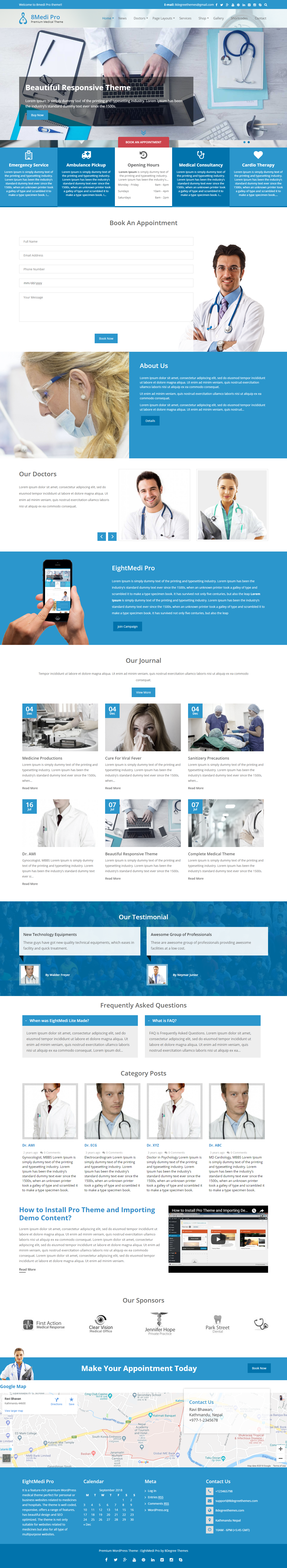 Eightmedia Pro - Best Premium hospital WordPress Theme