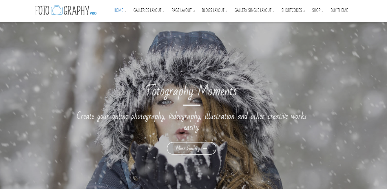 Fotography Pro - Best Premium Photography WordPress Themes