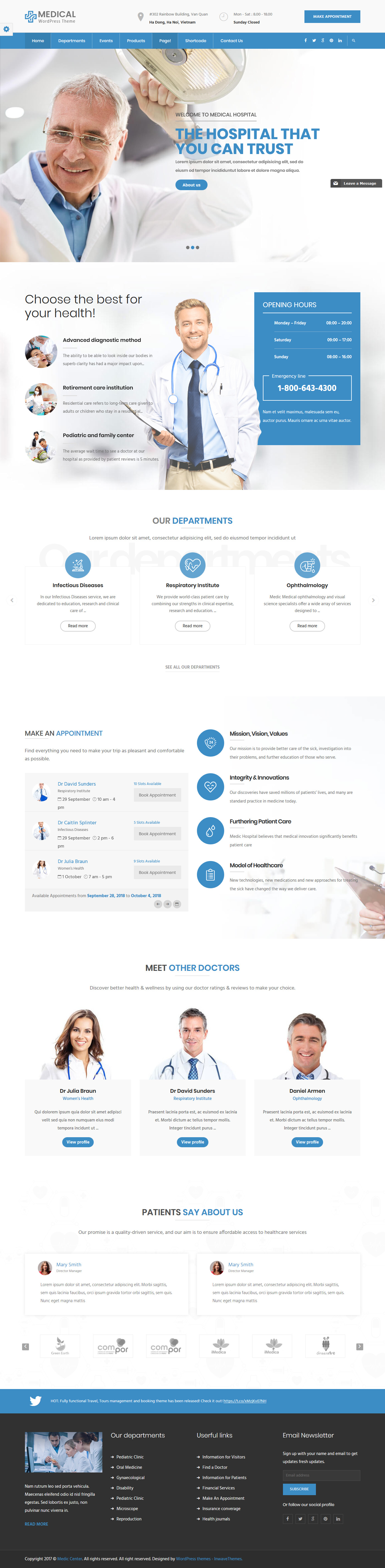 inMedical - Best Premium Hospital WordPress Theme