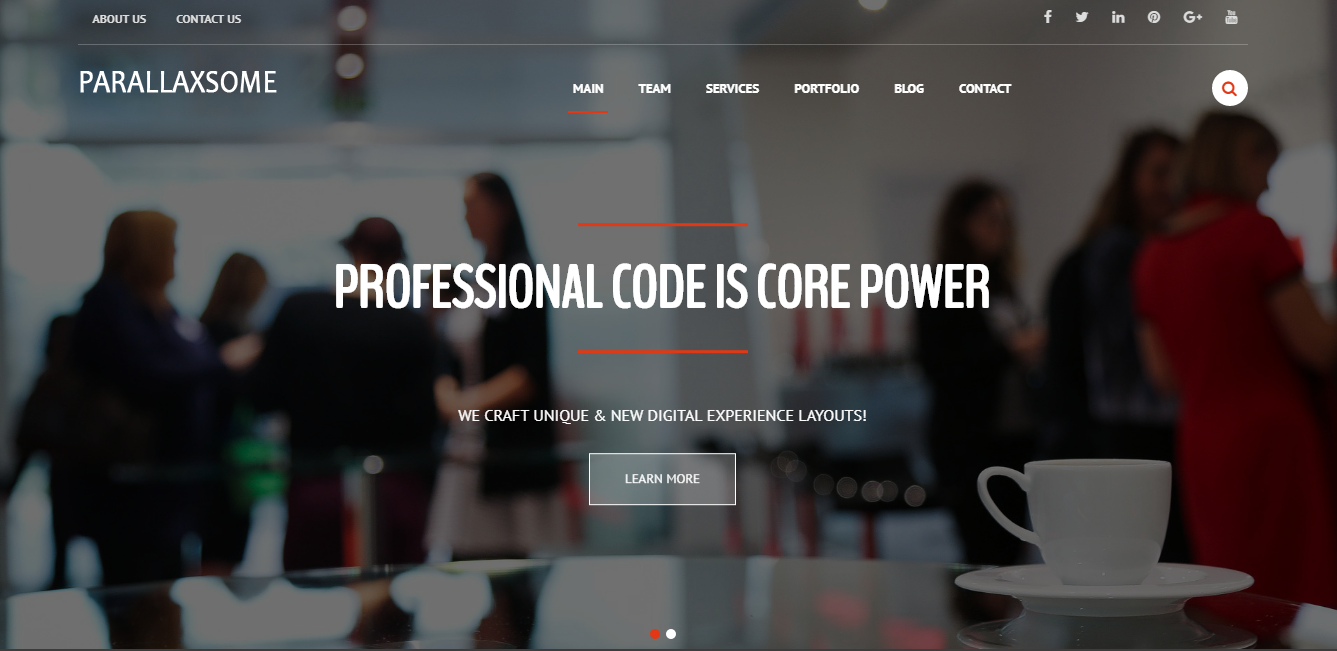 ParallaxSome - Best Free One Page WordPress Themes and Templates