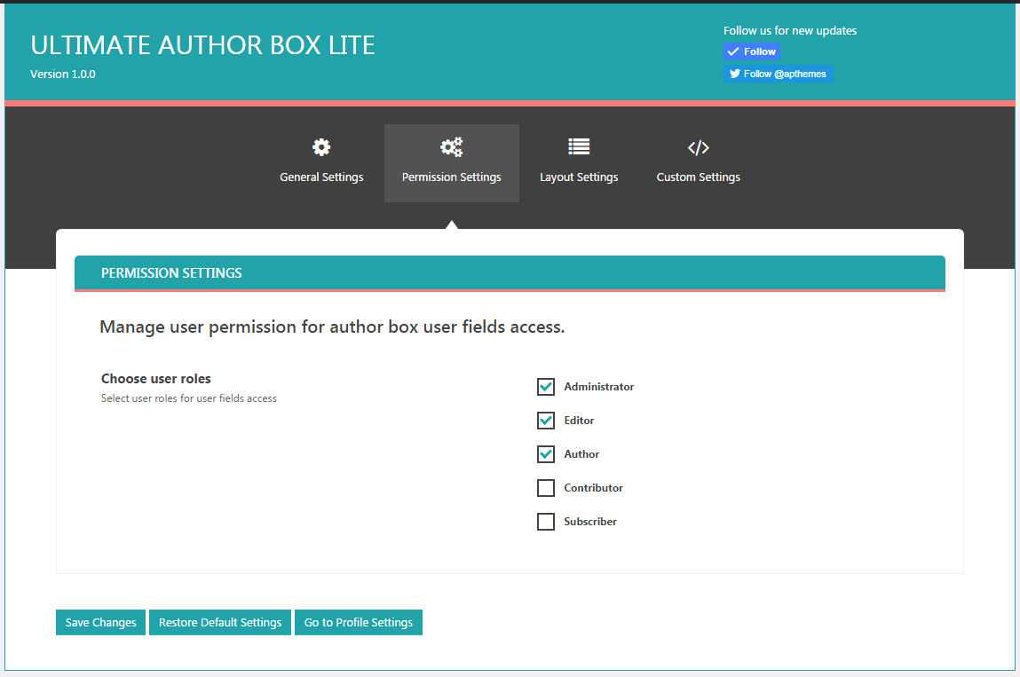 Ultimate Author Box Lite - Free Post/Article Author Section Plugin