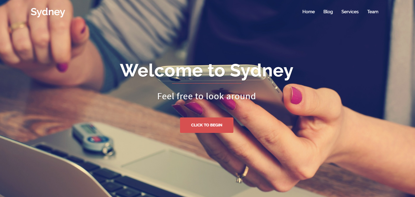 Sydney - Best Free One Page WordPress Themes and Templates
