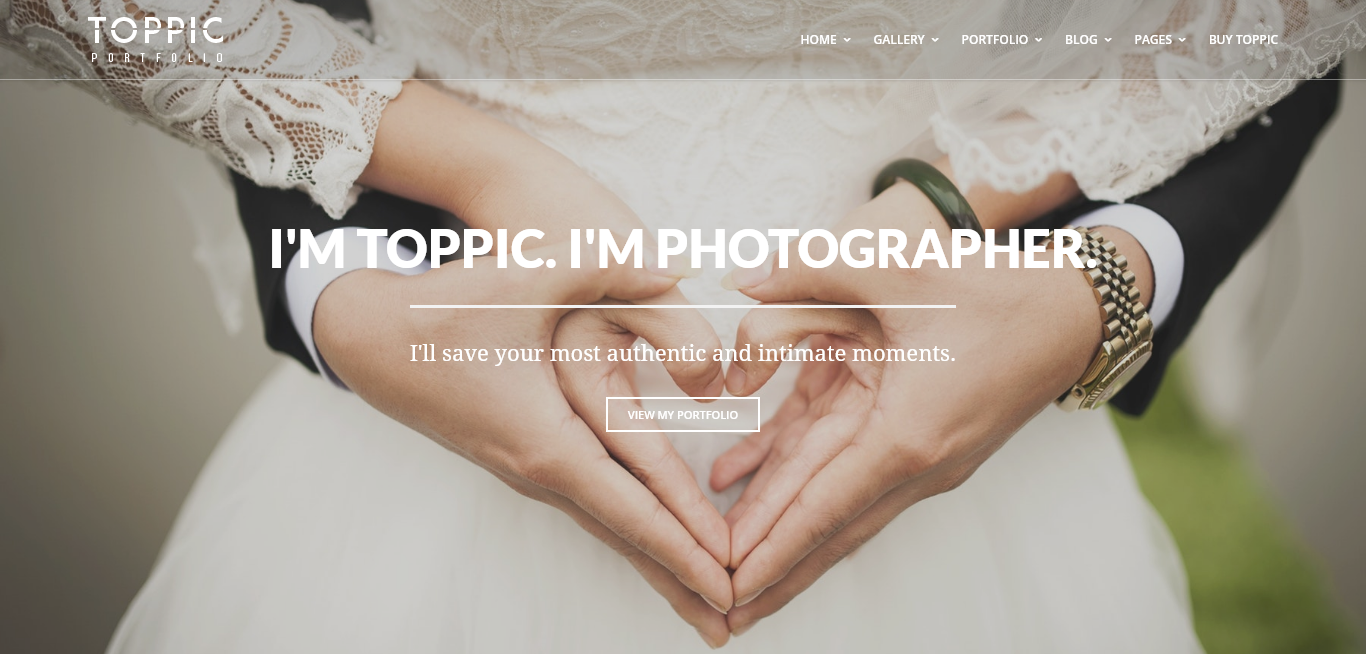 Toppic - Premium Photography WordPress Themes