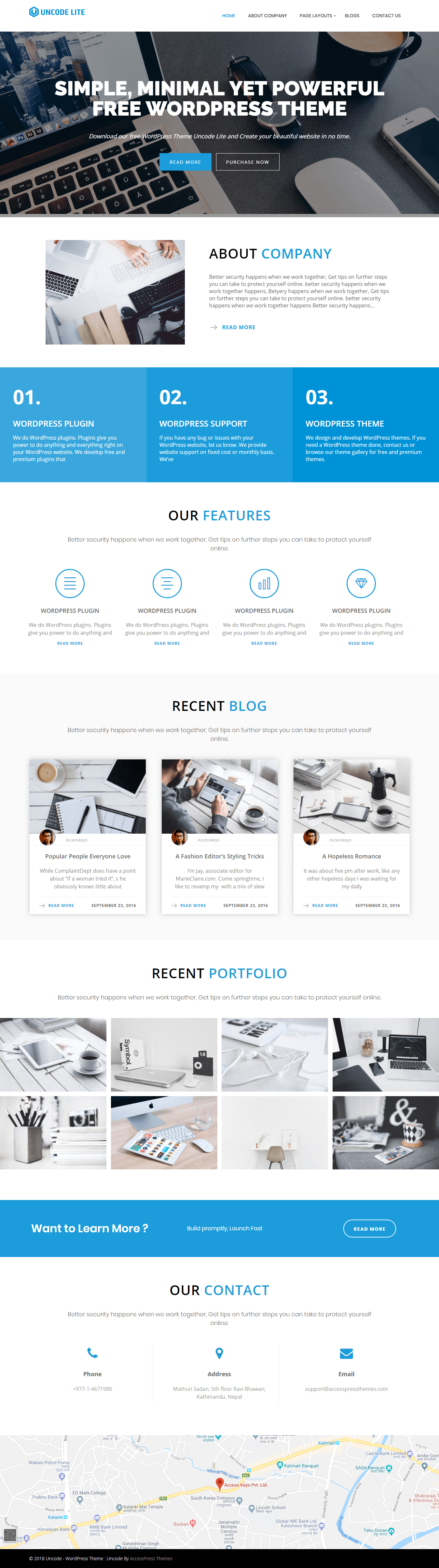 Uncode Lite - Best Free Portfolio WordPress Themes