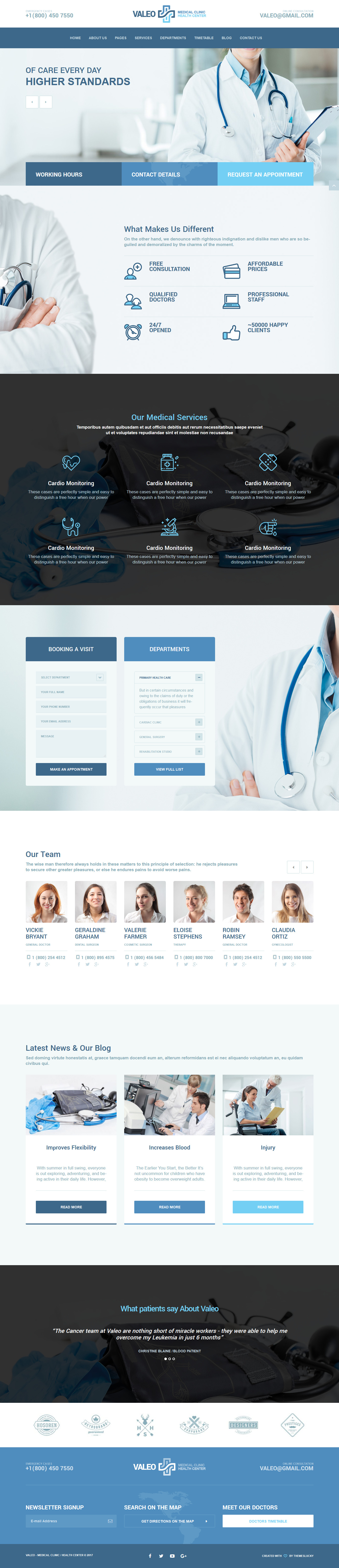Valeo - Best Premium Hospital WordPress Theme