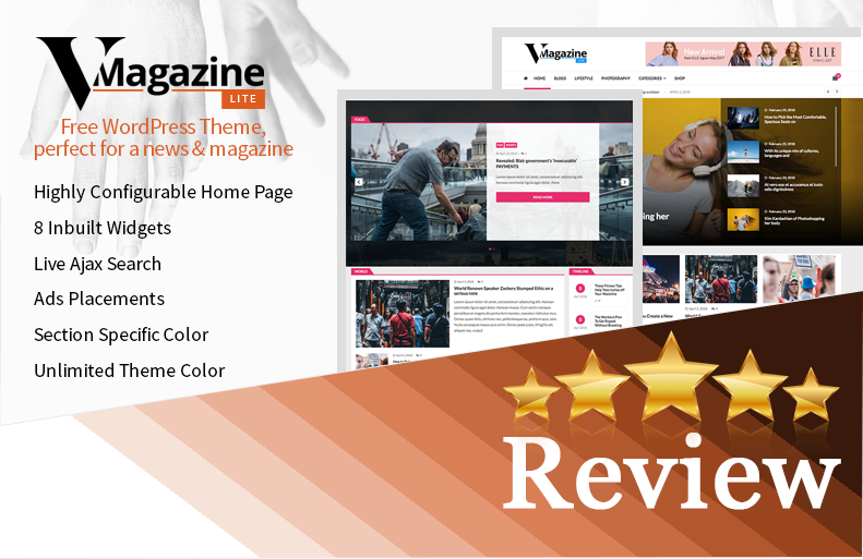 vmagazine lite free blog and magazine wordpress theme