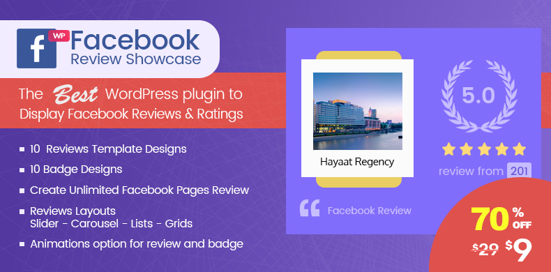 Offering 70% free launch offer in WP Facebook Review Showcase Plugin