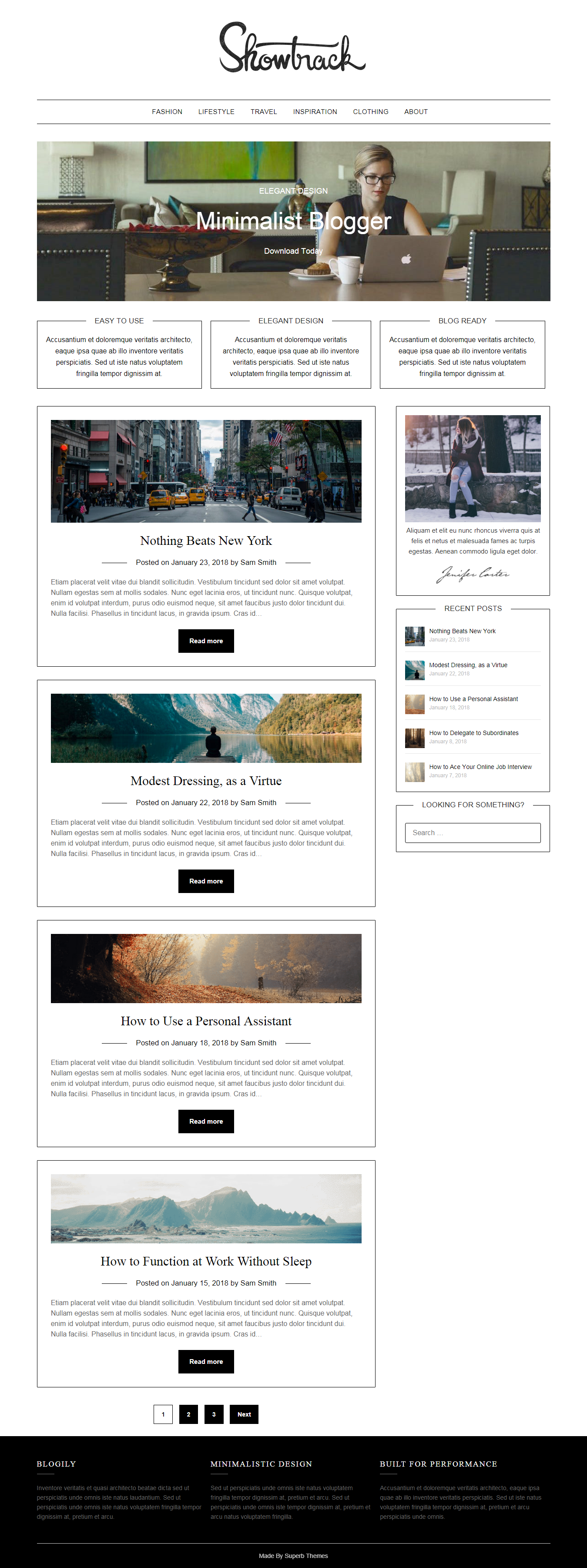 MinimalistBlogger – Best Free Minimal WordPress Theme