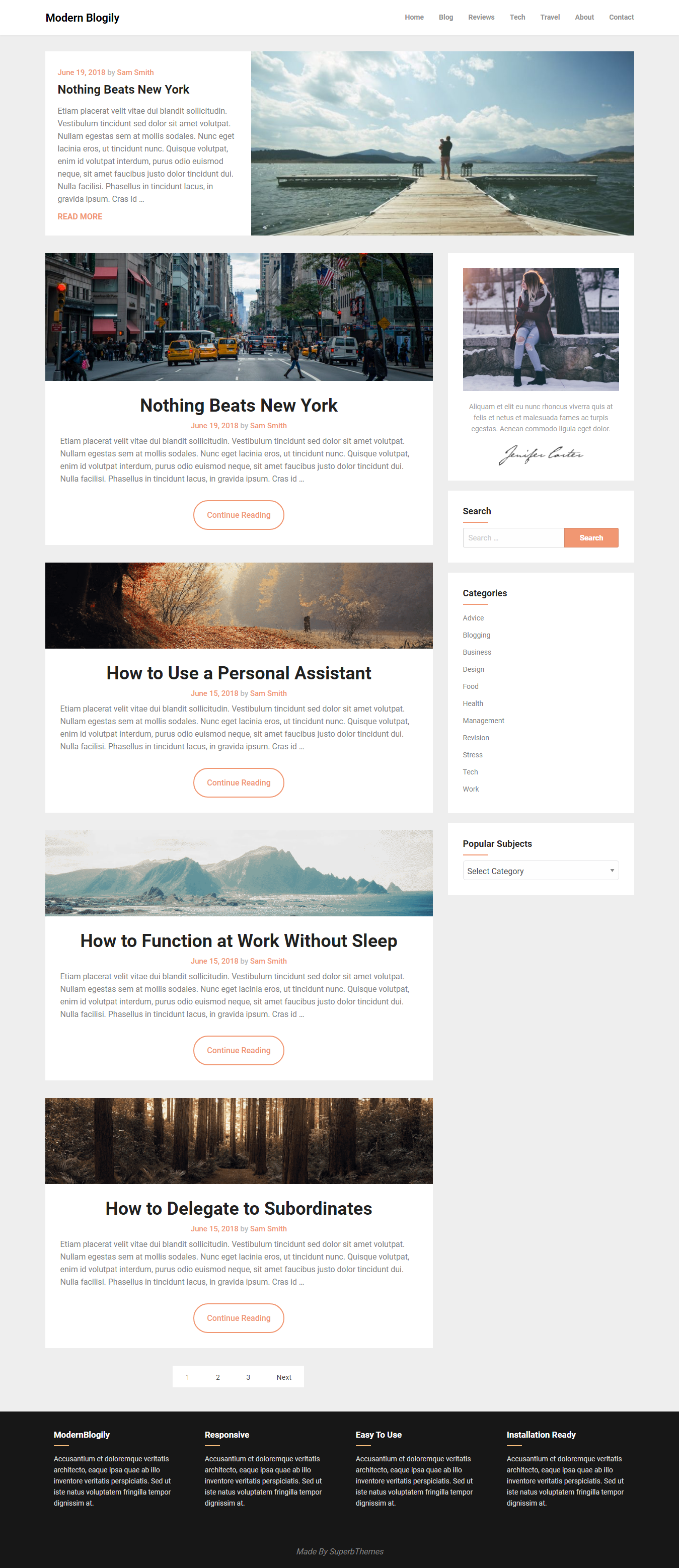 ModernBlogily – Best Free Minimal WordPress Theme