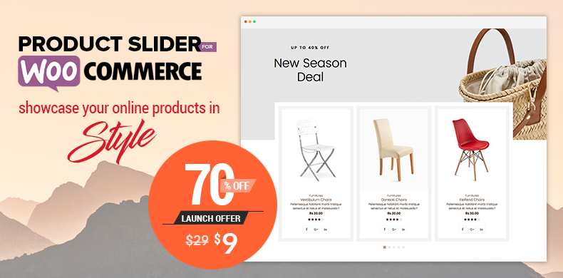 Offering 70% free discount offer in Product Slider - Woo Extension to Showcase Products
