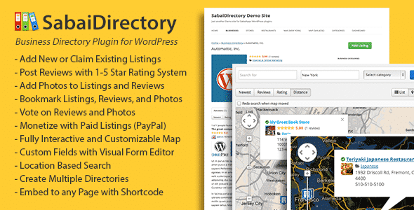 Best WordPress Business Directory Plugin: Sabai Directory