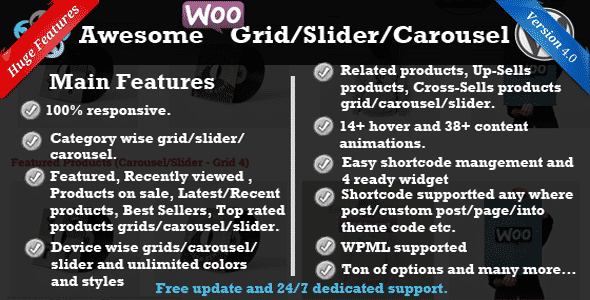 Best WooCommerce Product Slider Extensions for WordPress: WooCommerce Product Slider/Carousel/Grid