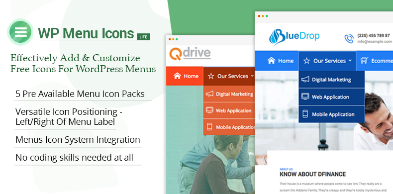 Effectively Add And Customize Free Icons For WordPress Menus – WP Menu Icons Lite