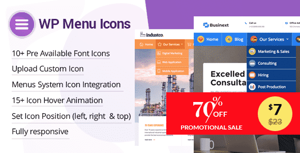 Best Custom Icons Plugins for WordPress Menu: WP Menu Icons
