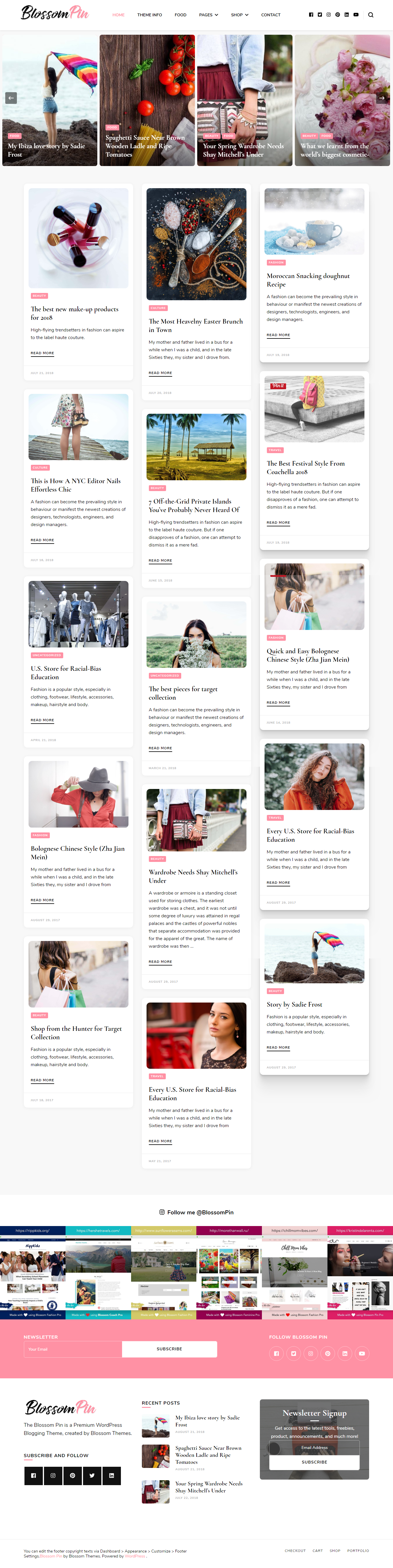 Blossom Pin - Best Free Fashion WordPress Theme