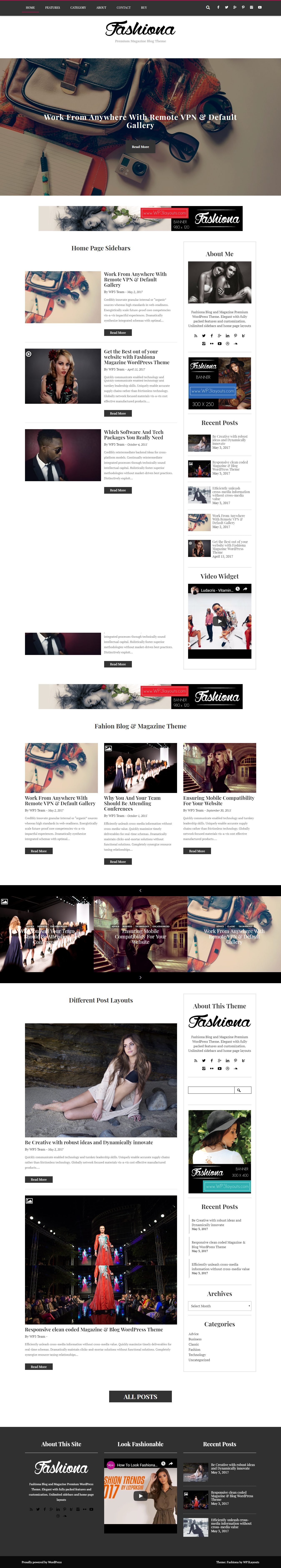 Fashiona - Best Free Fashion WordPress Theme
