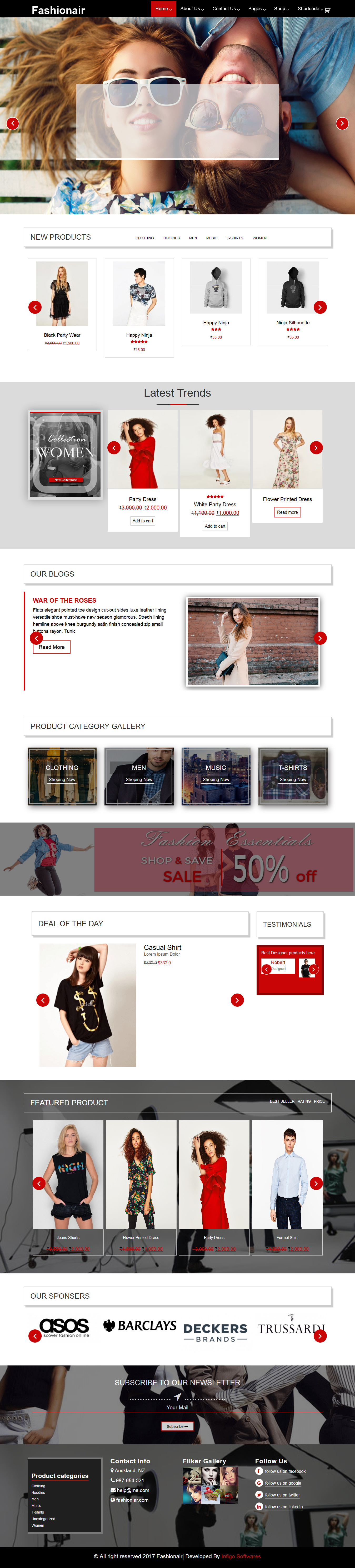 fashionair - Best Free Fashion WordPress Theme