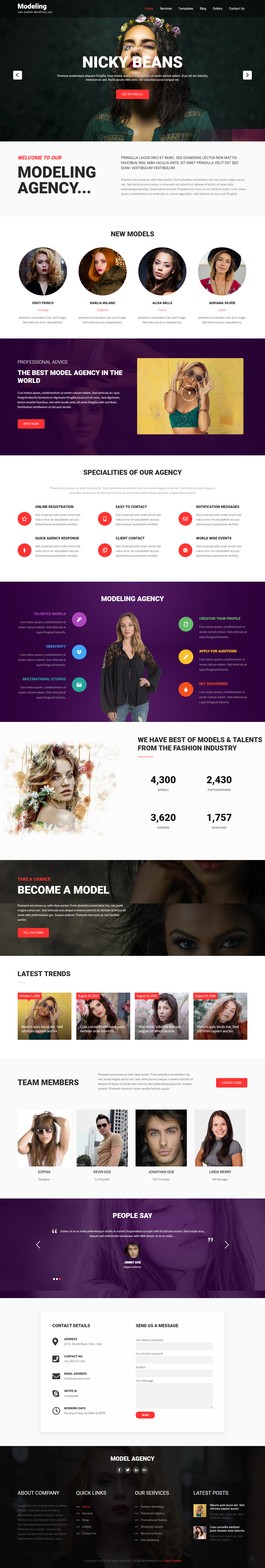Modeling Lite - Best Free Fashion WordPress Theme