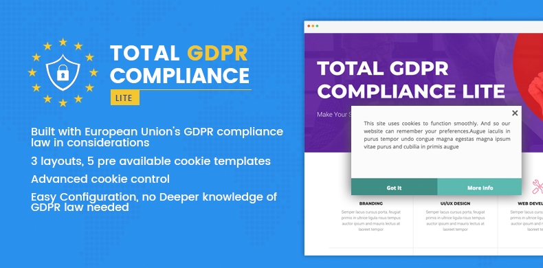 Total GDPR Compliance Lite – WordPress Plugin for GDPR Compatibility