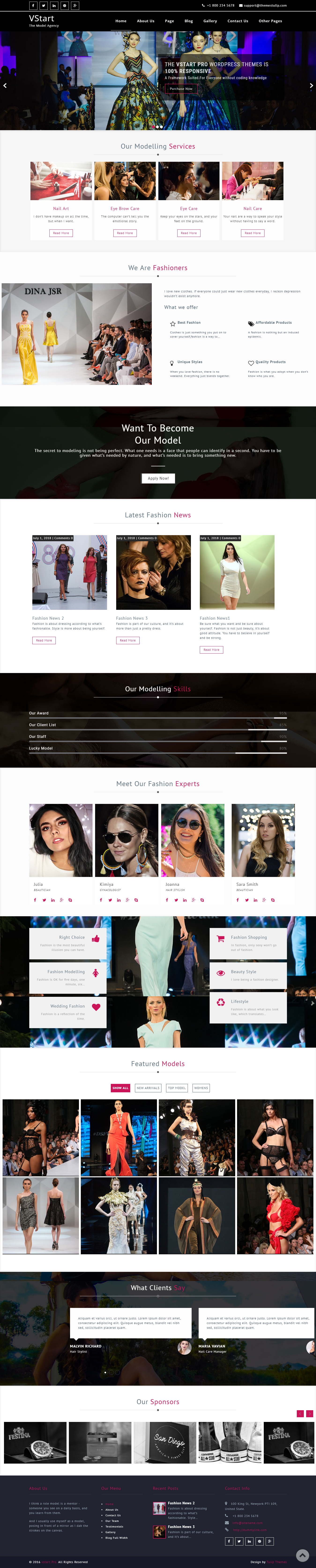 VStart - Best Free Fashion WordPress Theme