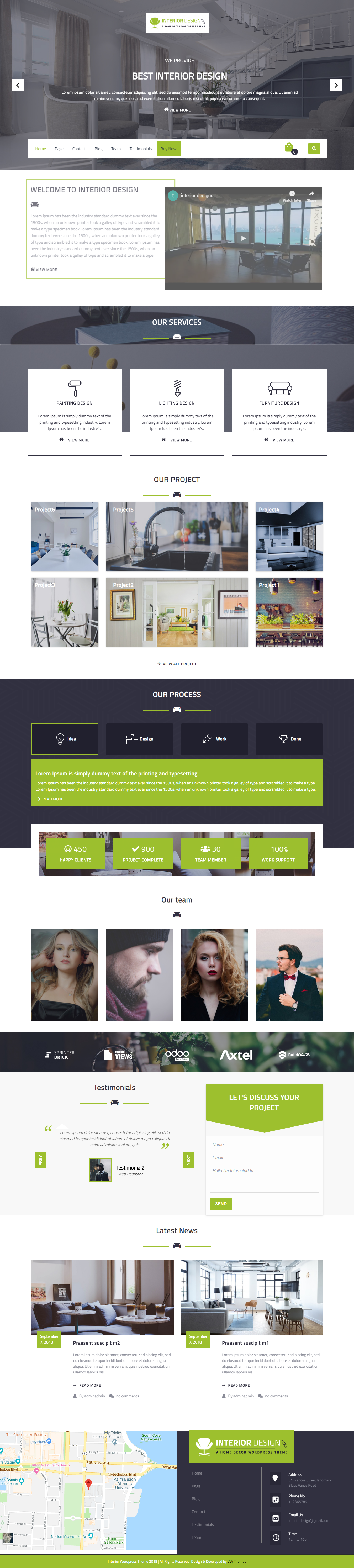 VW Interior Designs - Best Free Interior Design WordPress Theme