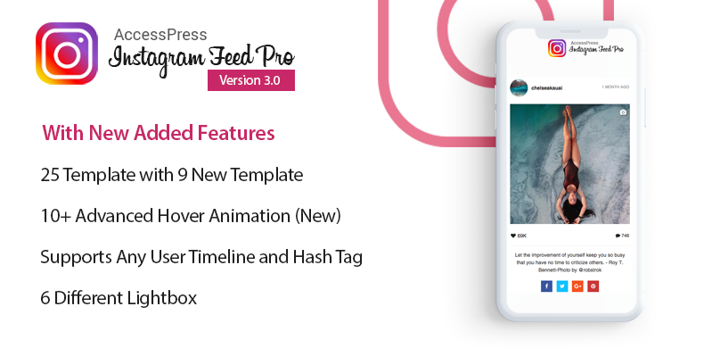 Premium WordPress Instagram Feed Plugin – AccessPress Instagram Feed Pro