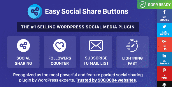 Best WordPress Social Media Share/Counter Plugin: Easy Social Share Buttons