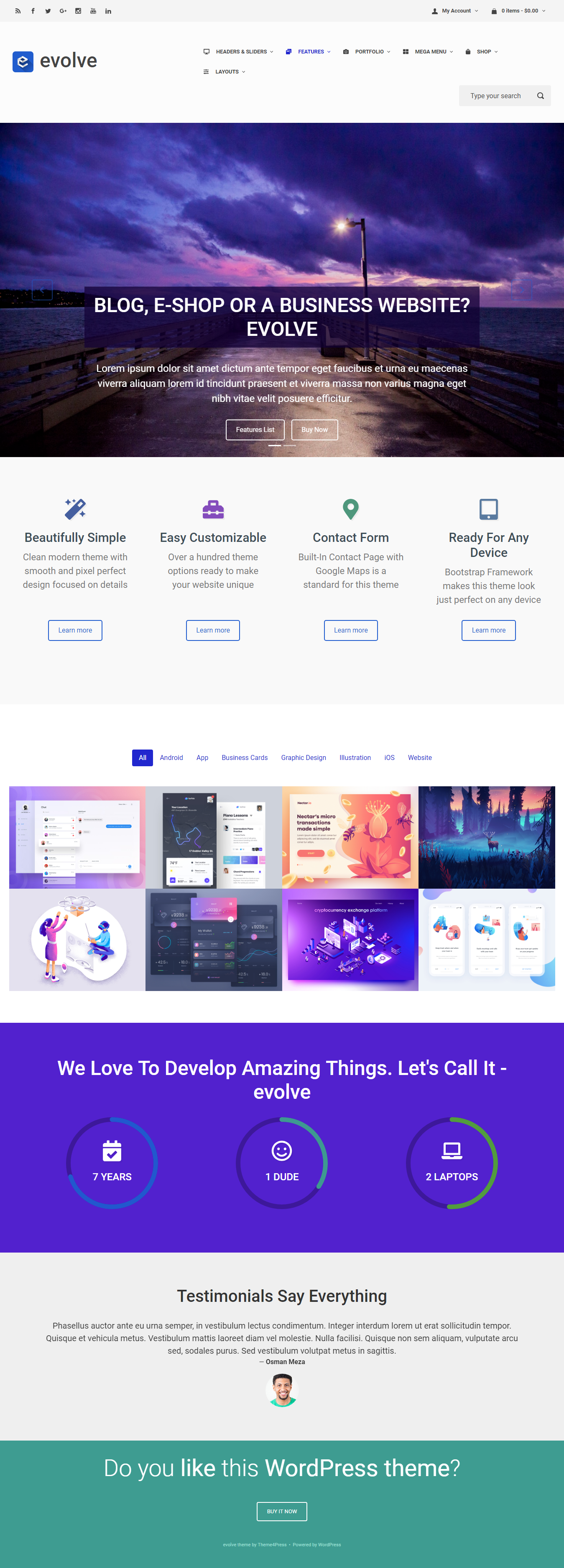 Evolve - Best Free BuddyPress WordPress Theme