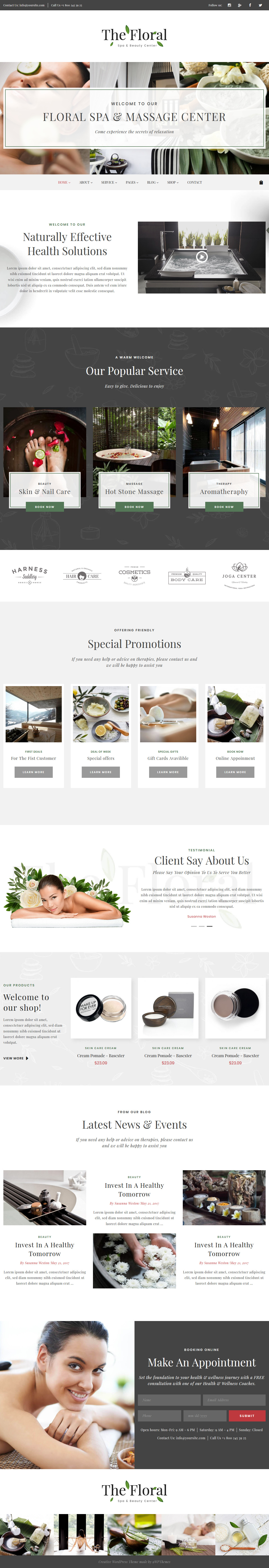 Floral - Best Premium Spa and Beauty WordPress Theme