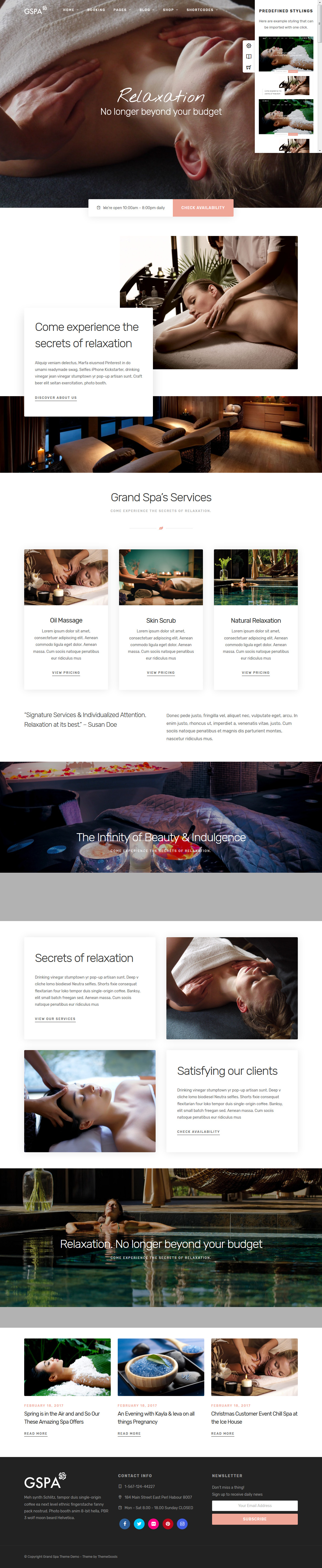 Grand Spa - Best Premium Spa and Beauty WordPress Theme