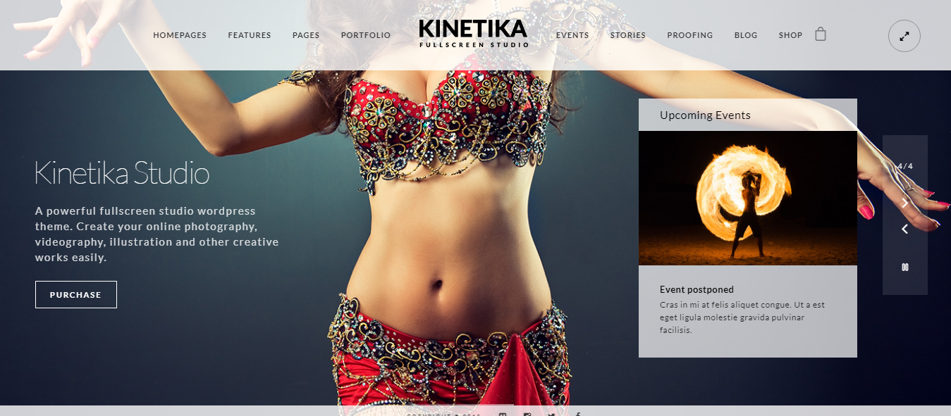 Kinetika - Best Premium Fullscreen WordPress Theme