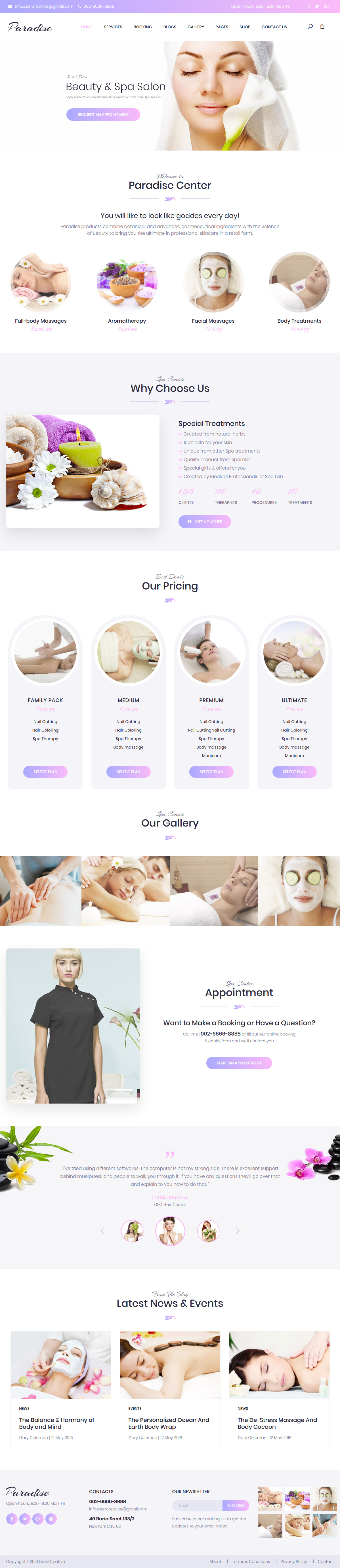 Paradise - Best Premium Spa and Beauty WordPress Theme