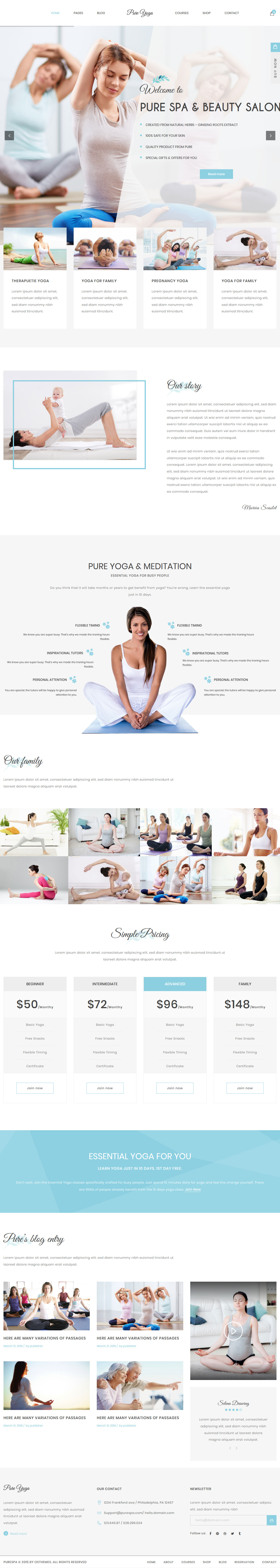 Pure - Best Premium Spa and Beauty WordPress Theme
