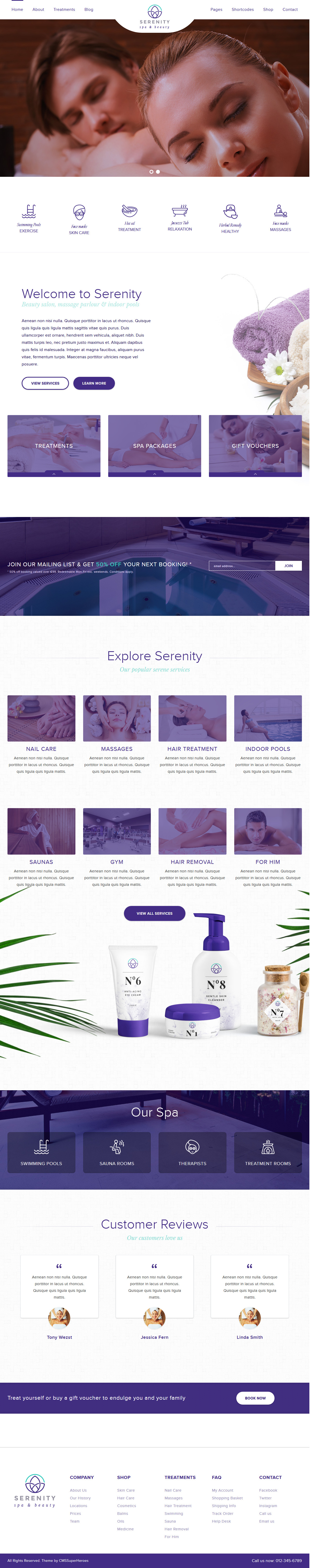 Serenity Spa & Beauty - Best Premium Spa and Beauty WordPress Theme