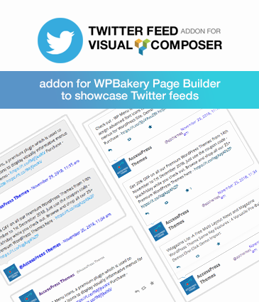 WPBakery Addon for Twitter Feeds – Twitter Feed Addon for Visual Composer