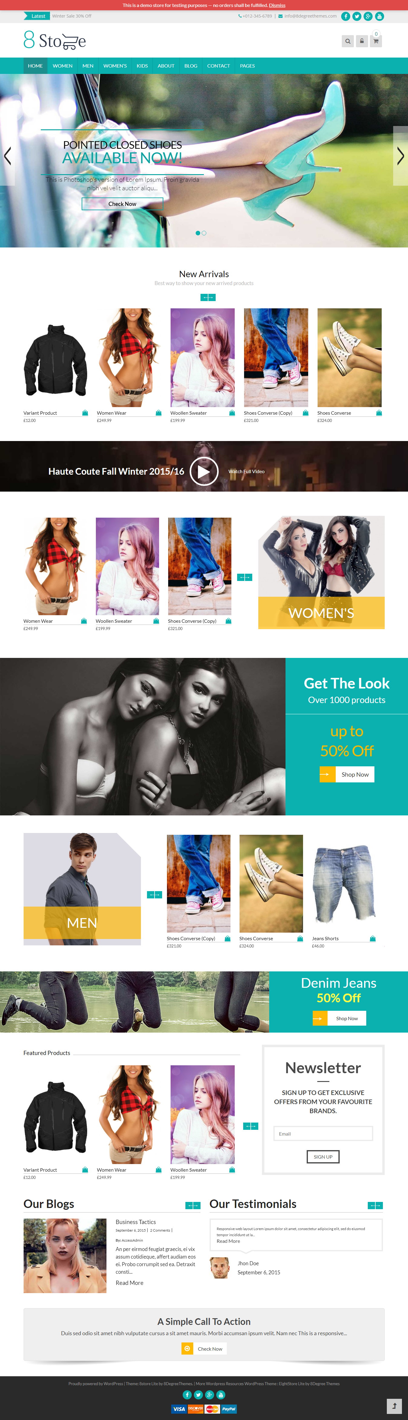 8store Lite - Best Free Retail Shop WordPress Themes