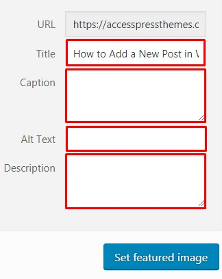 Add Featured Image in Site.